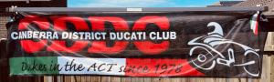 CDDC Large Club Banner with background logo