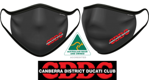 Canberra District Ducati Club Fabric Face Mask